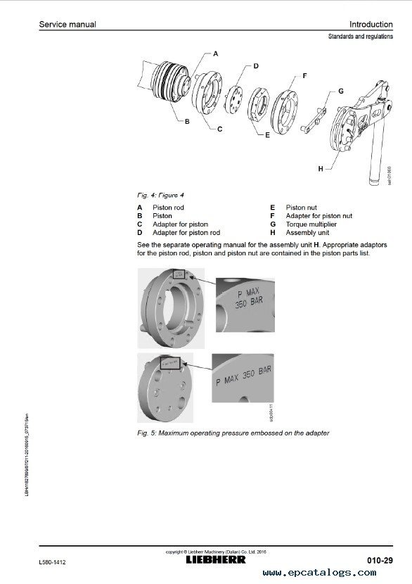 Liebherr L580 1412 Wheel Loader Service Manual PDF