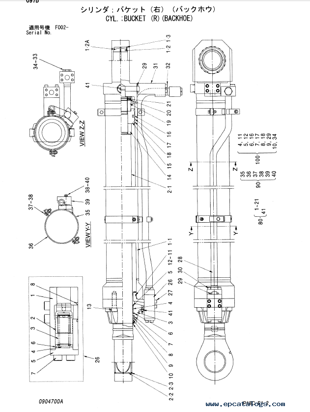 Hitachi EX1900-5 Equipment Component Parts P18C-E1-2 PDF