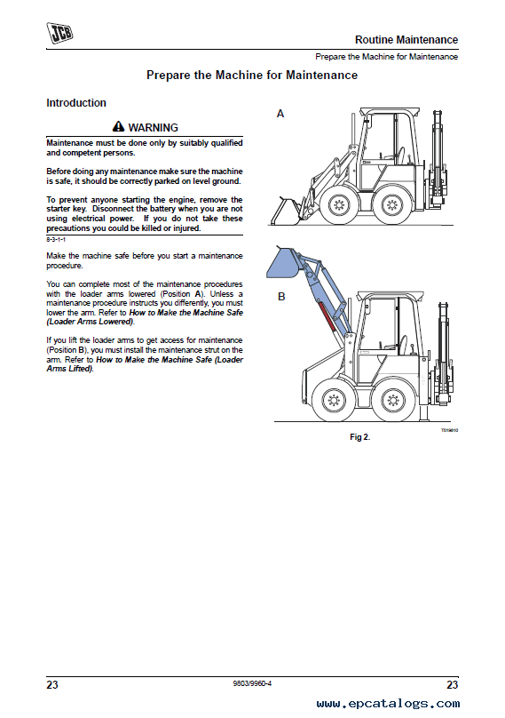 JCB Backhoe Loader 1CX Service Manual PDF
