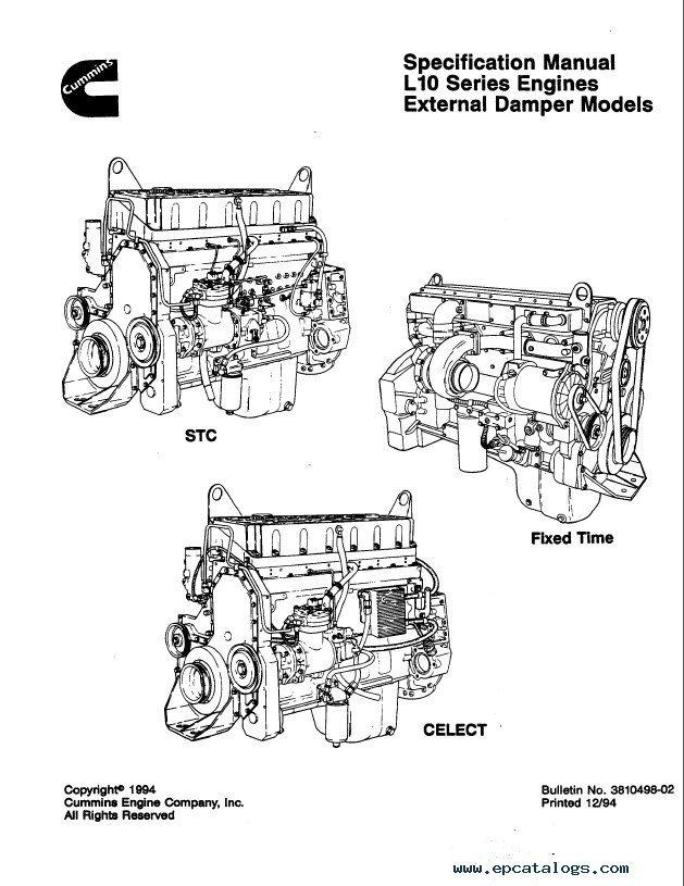 Cummins L10 Engines Damper Models Shop Manuals PDF Download
