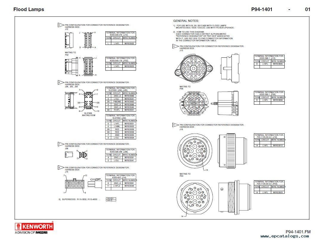 kenworth t660 lights wiring diagram t free printable wiring diagrams