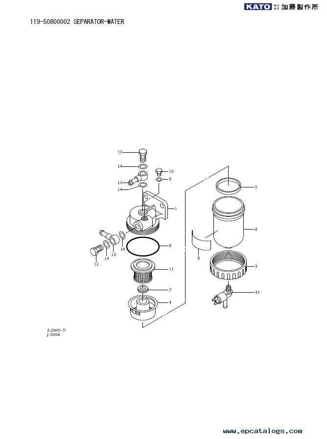 Kato SR-250VR Terrain Crane Set of Parts Catalog in PDF