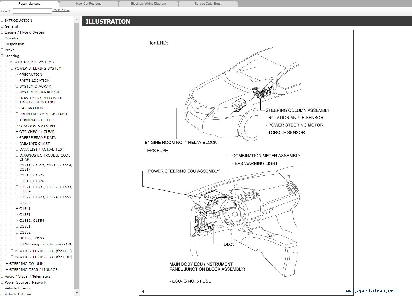 hight resolution of repair manual toyota avensis petrol azt270 zrt270 271 272 repair manual rm11r3
