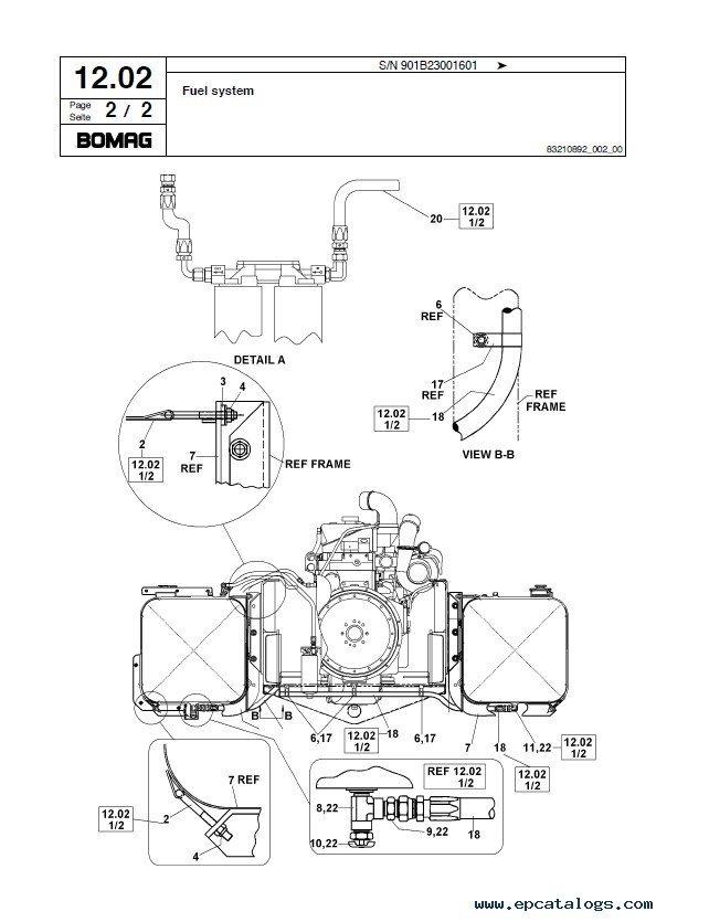 Bomag MPH362/364-2 Parts Catalog Repair Instructions PDF