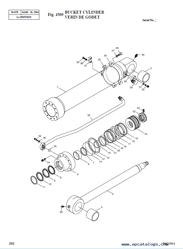 Terex TXС 175LC-1 Hydraulic Excavator Parts Manual PDF