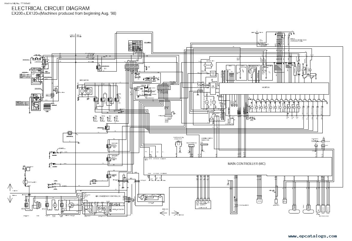 hight resolution of repair manual hitachi ex120 5 excavator technical manual troubleshooting tt155e 02 pdf