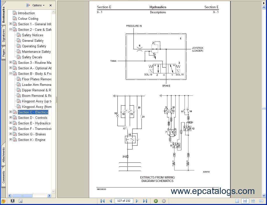 jcb alternator wiring diagram evinrude outboard ignition switch 1400b backhoe parts free engine image