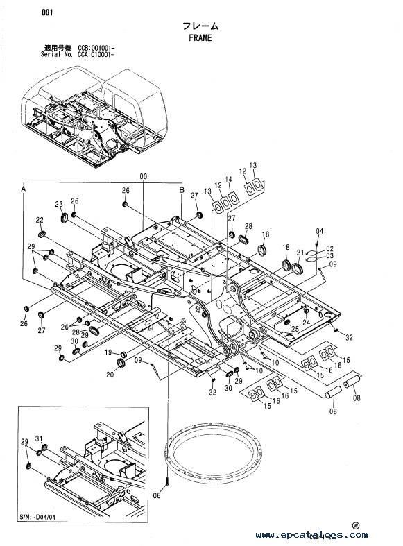 Download Hitachi Excavator Zaxis 180W Parts Catalog PDF