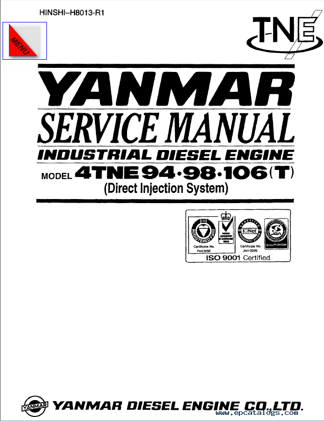 Download Yanmar Engine 4TNE Service Manual for Hyundai