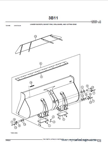 John Deere Loader 624J Utility Parts Catalog PDF