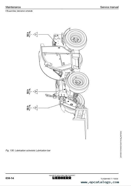 Liebherr TL432-1483 Telescopic Handler Service Manual PDF