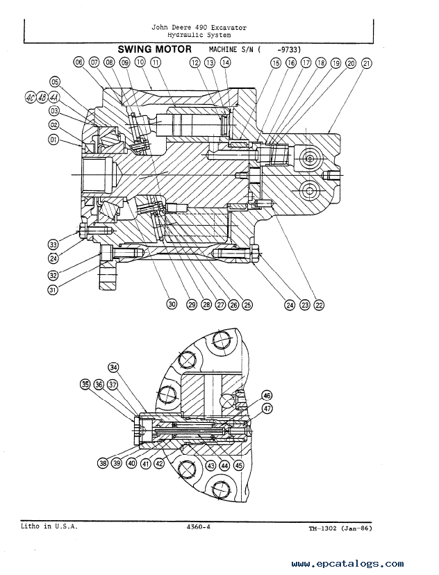 John Deere 490 Excavator Repair Operation Test TM1302 PDF