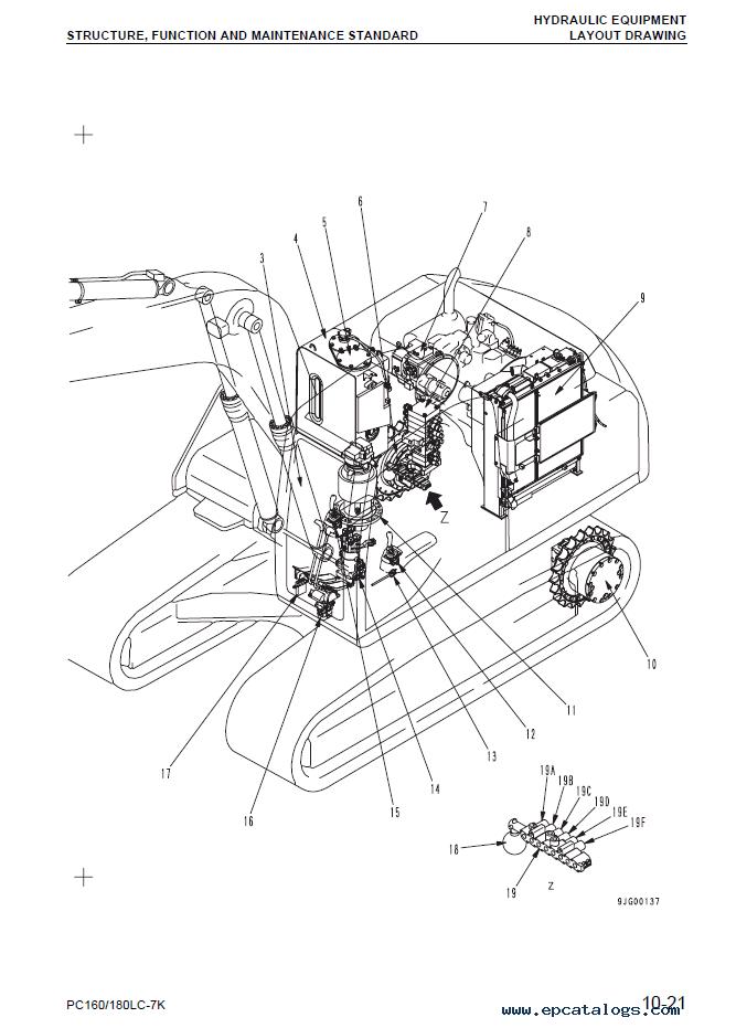 Komatsu Hydraulic Excavator PC160LC-7K, PC180LC-7K Set of