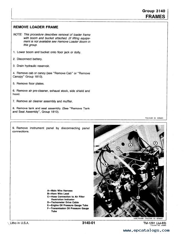 John Deere 450D 455D Crawler Bulldozer/Loader TM1291 PDF