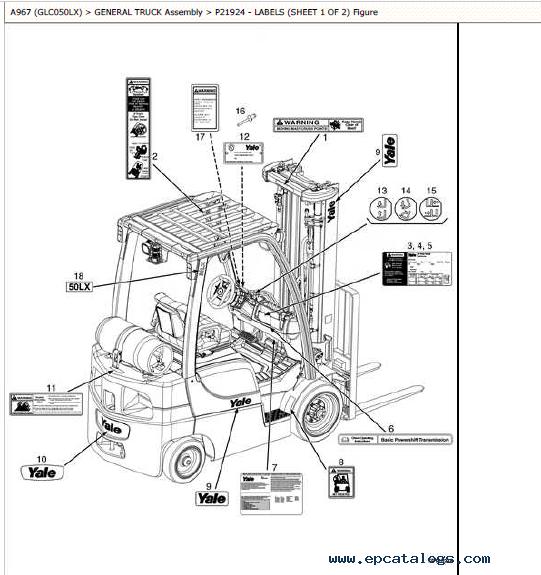 Yale Truck A967 GLC050LX PDF Service Manuals