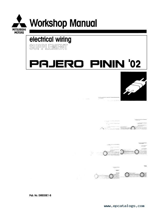 2000 Nm Pajero Workshop Manual