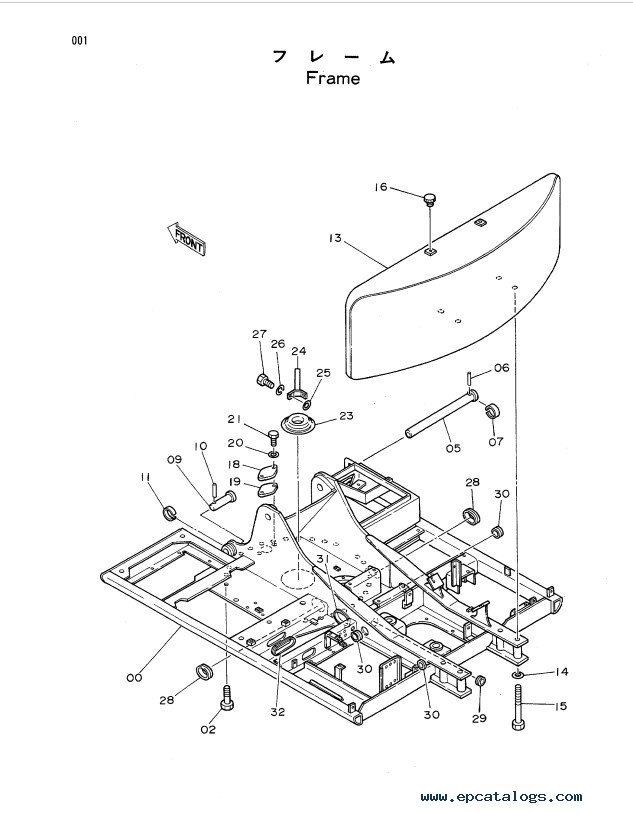 Download Hitachi Excavator EX120 Equipment Parts Lists PDF