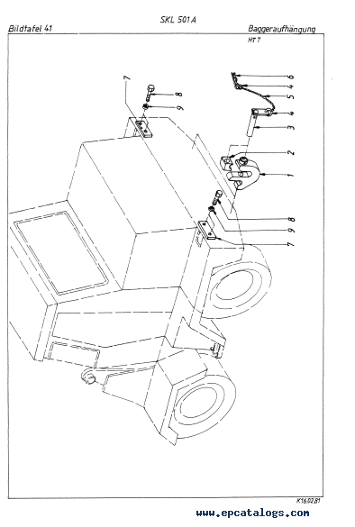 Terex SKL 501 series A Wheel Loader Download PDF Parts Catalog