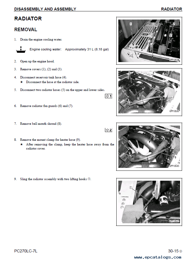 Komatsu Excavator Galeo PC270-7 PDF Set of Repair Manuals
