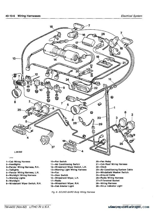 John Deere 4230 Wiring Harness : 30 Wiring Diagram Images