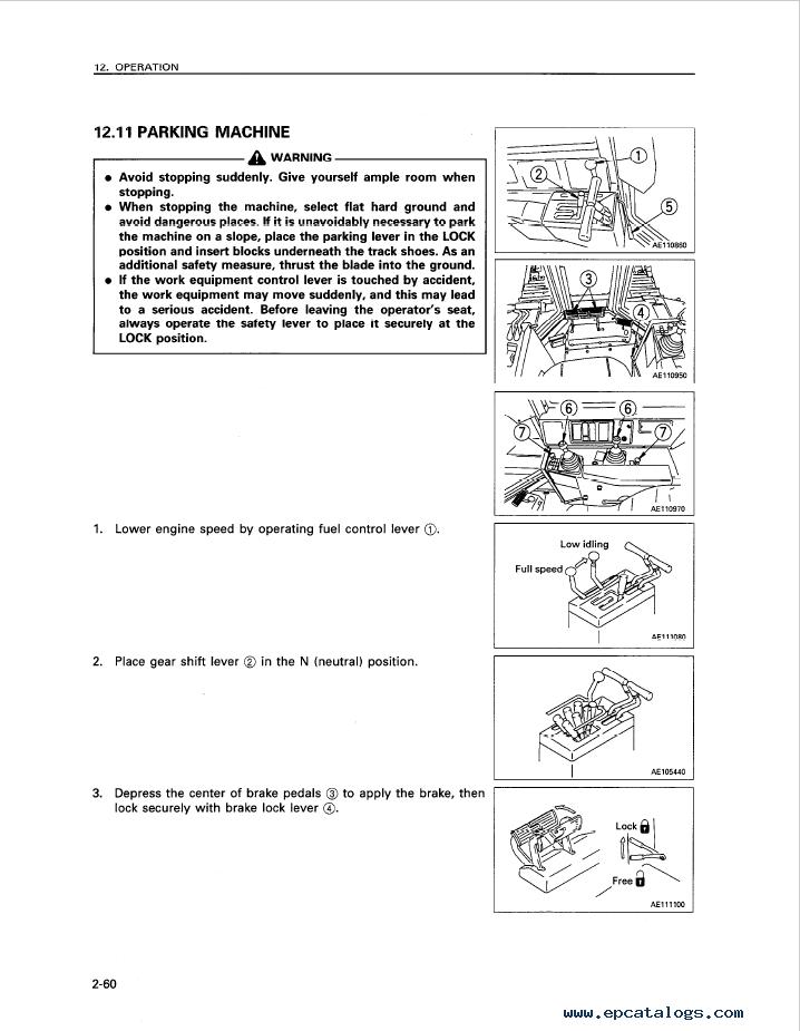 Komatsu Bulldozer D85A, E, P-21 Manual Download