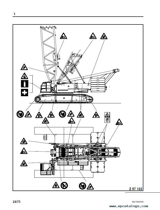 Terex CC2400-1 Crane Download Operating Instructions PDF