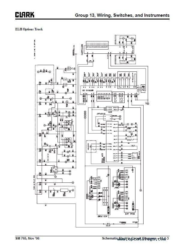 Clark GEX20-30 SM765 Service Manual PDF