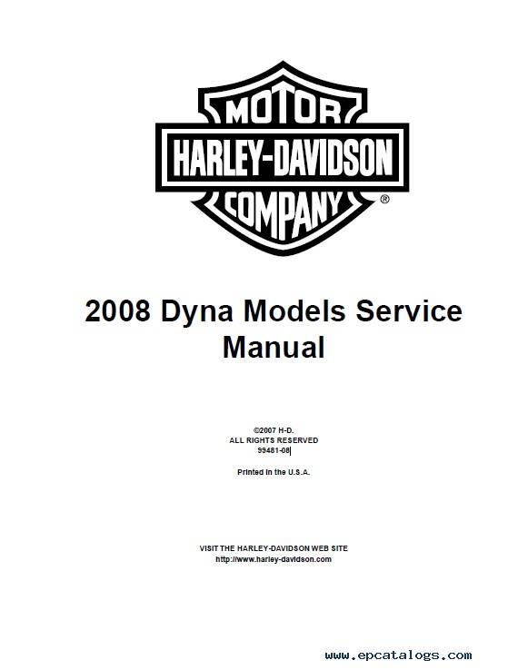 Harley Davidson Dyna 2008 Diagnostics Service Manuals PDF