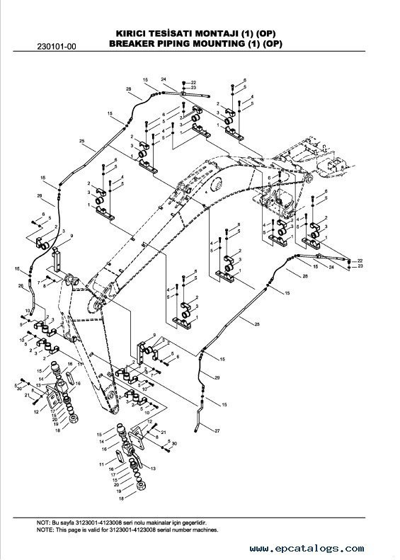 Hidromek HMK102B 102S 200W 220LC-2 Backhoe Loader PC