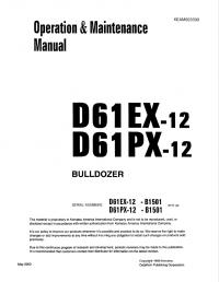 Komatsu D61EX, PX-12 Bulldozer Set of Manuals PDF