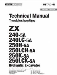 Hitachi ZX 240(LC) 250(LC)H 250(LC)K-5A Troubleshoot PDF