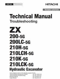 Hitachi Excavator ZX200-5G Series Troubleshooting PDF