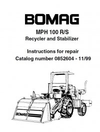 Bomag MPH 100 R/S Repair Instruction + Illustrated Parts
