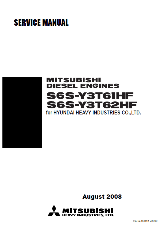 Download Mitsubishi Engines S6S-Y3T61HF/Y3T62HF Service PDF