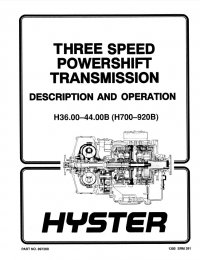 Hyster H36/4/44/48.00CH H800/880/970C H1050CH PDF