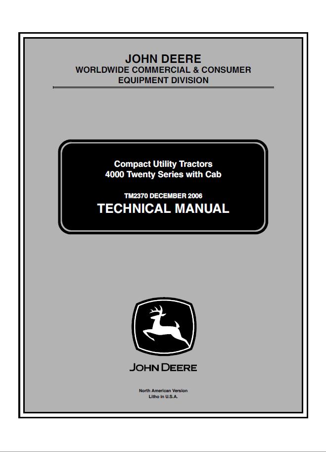 John Deere Compact Utility Tractors 4000 Twenty Series PDF