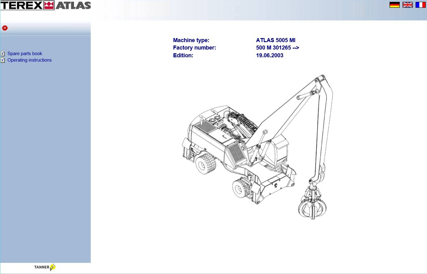 hight resolution of spare parts catalog terex atlas parts catalog