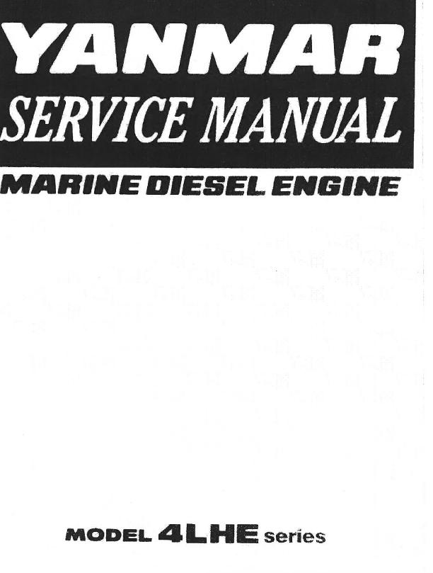 Yanmar Marine Diesel Engine 4LHE Series