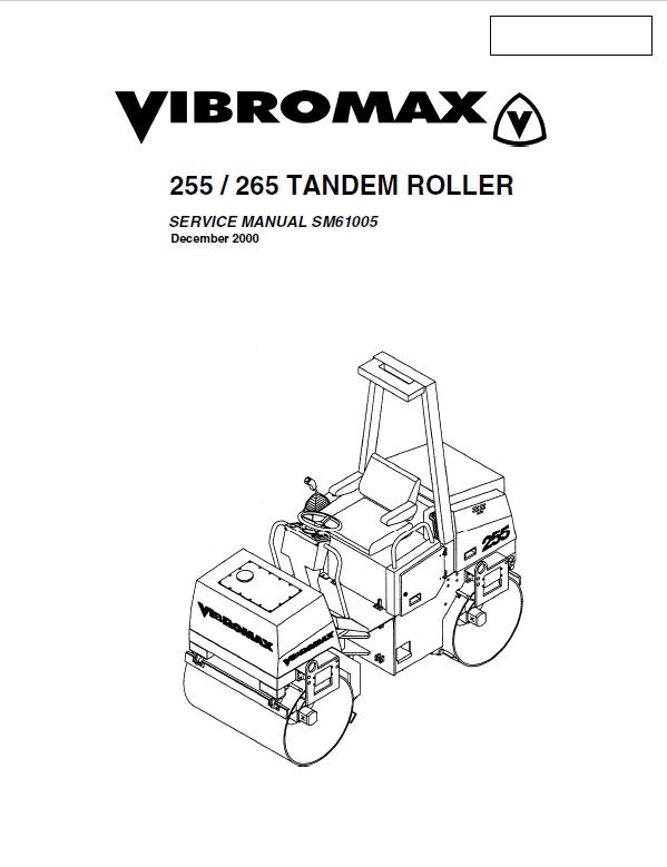 Download JCB Vibromax Tandem Rollers 255 265 Service PDF