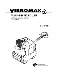 Download JCB Vibromax Walk-Behind Roller 70B Service PDF