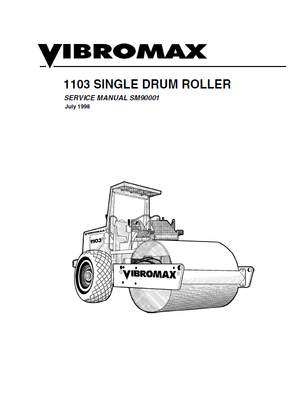 Download JCB Vibromax 1103 Single Drum Roller SM90001