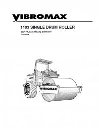 Download JCB Vibromax 1103 Single Drum Roller SM90001