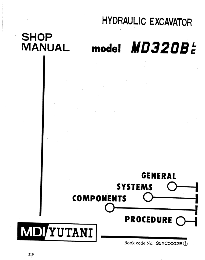 Kobelco MD320BLC Hydraulic Excavator Download PDF Shop Manual