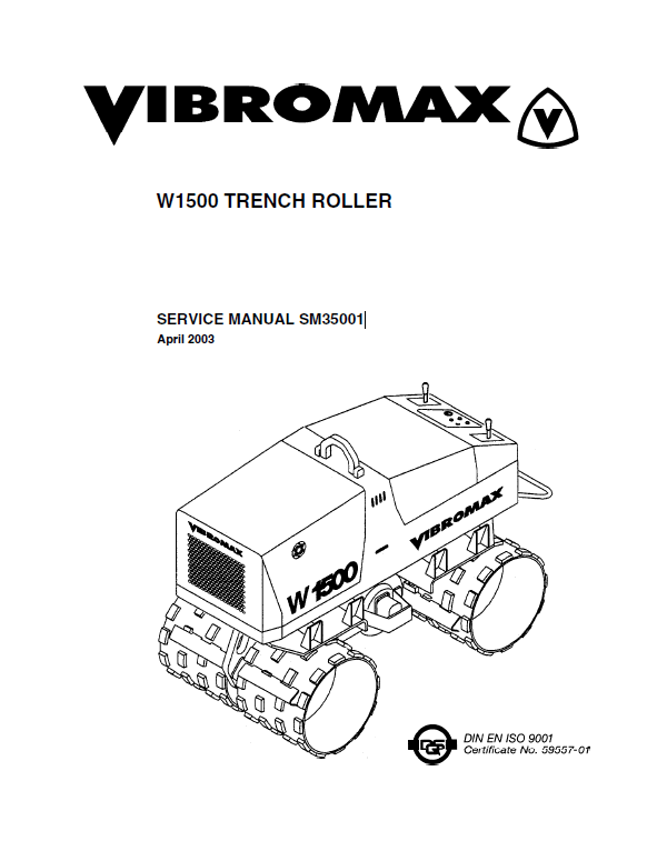 Download JCB Vibromax W1500 Trench Roller Service PDF