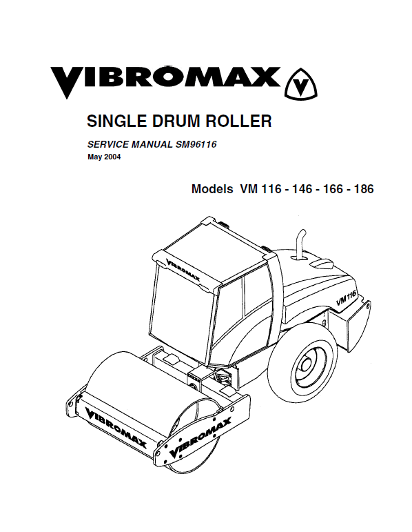 Download JCB Vibromax VM116/146/166/186 SM96116 PDF
