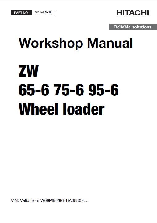 Hitachi Wheel Loader ZW65/75/95-6 Workshop Manual PDF