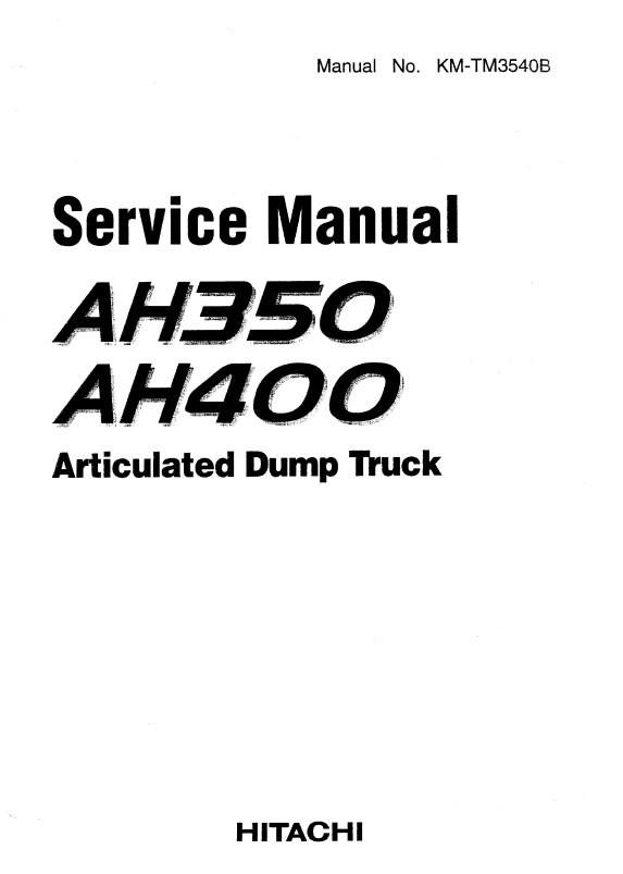 Download Hitachi ADT AH350, AH400 Service Manual PDF