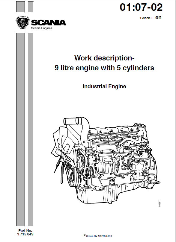 Download Scania DC9 Industrial Engine for JCB Work