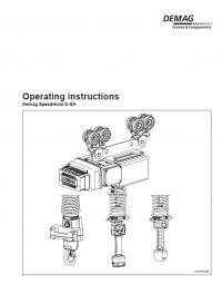 Demag Speed Hoist D-SH Download PDF Operating instructions