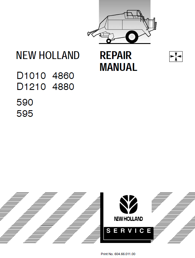 New Holland Crop Cutter D1010 and D1210 PDF Repair Manual